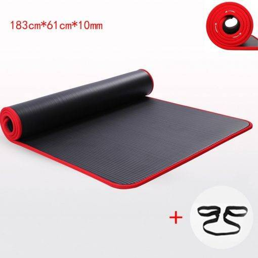 Tapis de Gym Extra épais 10 MM Accessoires CrossFit Accessoires Workout Gainage